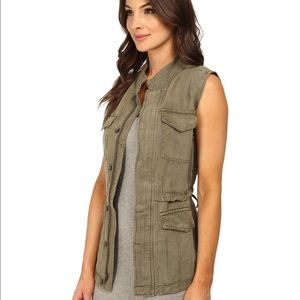 SANCTUARY clothing military army green vest M